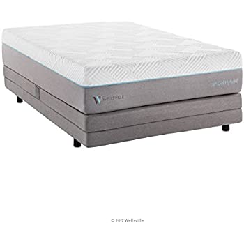 WELLSVILLE 14 Inch Gel Memory Foam and Innerspring Premium Hybrid Mattress, Full