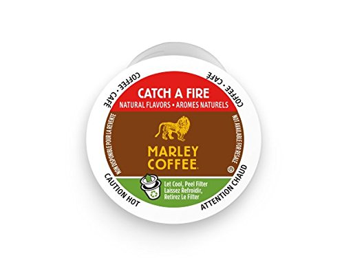Marley Coffee, Catch A Fire, Light Roast, 24 Single Serve RealCups