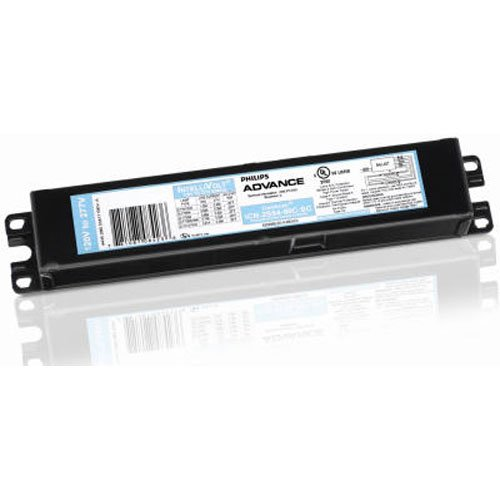 Philips ICN-2S54-90C-N Electronic Ballast, 54 Max. Lamp Watts, 120/277 V, Programmed Start, No Dimming