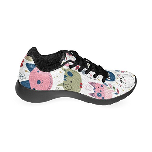 Interestprint Mujeres Cross Country Trainer Trail Running Zapatillas Jogging Ligero Deportes Walking Athletic Sneakers Multi 5
