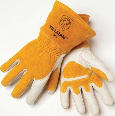 Tillman Medium Top GrainレザーMig Gloves with Splitレザー手のひら補強材、分割レザーバック、フリース裏地、シームレスForefinger And Elastic Back (カード付) B00CHV7L2A