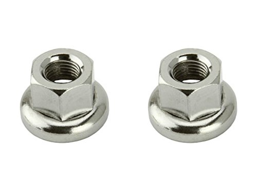 Lowrider 2 - Track Hub Nuts Front 9x1mm Chrome. Set of Track nut. Pair of track nut. Bicycle Nuts, bike Nuts, track bike Nuts, fixie bike Nuts by Lowrider