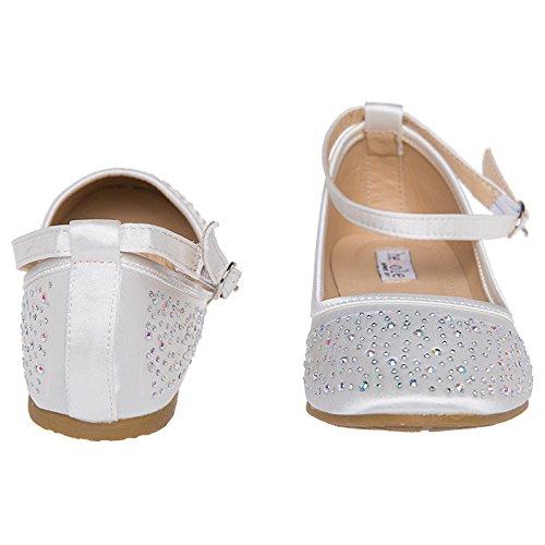 Shesole Dames Bruiloft Ballet Flats Schoenen Ivoor