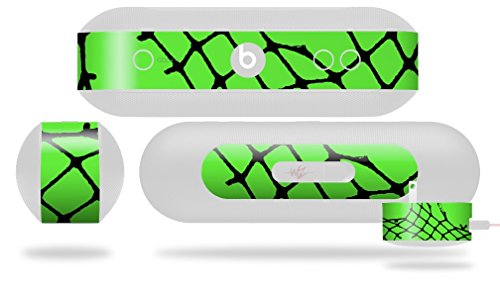 Ripped Fishnets Green Decal Style Skin - fits Beats Pill Plus (BEATS PILL NOT INCLUDED) by WraptorSkinz