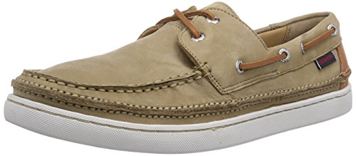 Sebago Heren Ryde Two Eye Oxford Tan Nubuck Leer