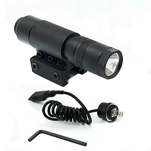 Weaver Rail System - Huntiger 90 + Lumens L.E.D Military Flashlight CREE LED Tac - Light Package Kit Set For 7/8