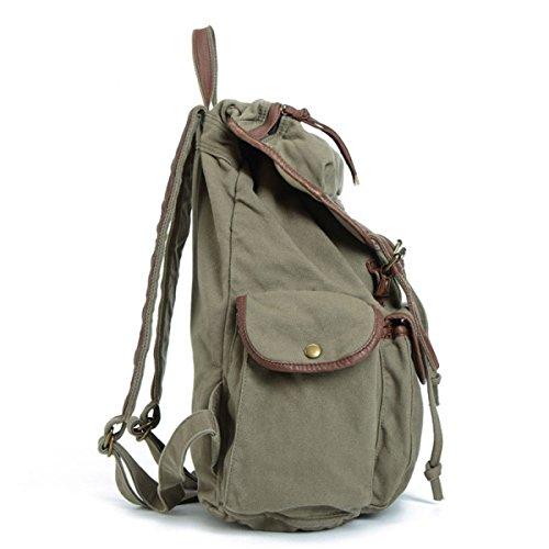 Herren Segel Rucksack Kuriertaschen Outdoor Großraum Reisetaschen Damen Rucksack,Khaki-OneSize BAAFG