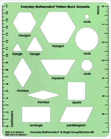 Everyday Mathematics Grades  Pattern Block Template Rd Edition