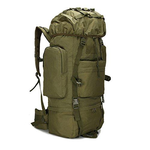 KYFW Camouflage Rucksack Tactical Paket Große Kapazität Bergsteigen Tasche Outdoor Sport Männliche Tasche,B-30*23*72cm-56-75L F-30*23*72cm-56-75L