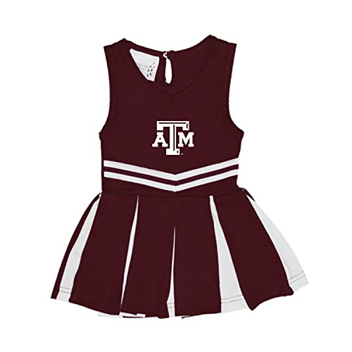 Texas A&M Aggies NCAA Newborn Infant Baby Cheerleader Bodysuit Dress (6 Months)