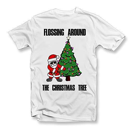 Christmas Funny Secret Santa Ladies Mens Cotton GIN-gle All The Way T-Shirt