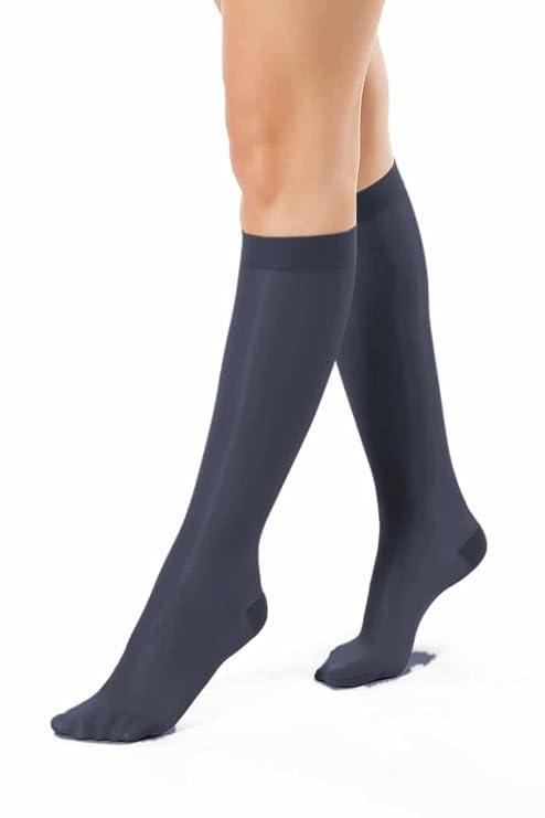 ®BeFit24 Elegantes Calcetines De Apoyo Hasta La Rodilla Con Compresión Media Graduada (10-