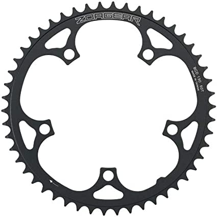 Black New Zoagear BCD 130mm 46 Teeth Single Speed Bike Chainring Fixed Gear