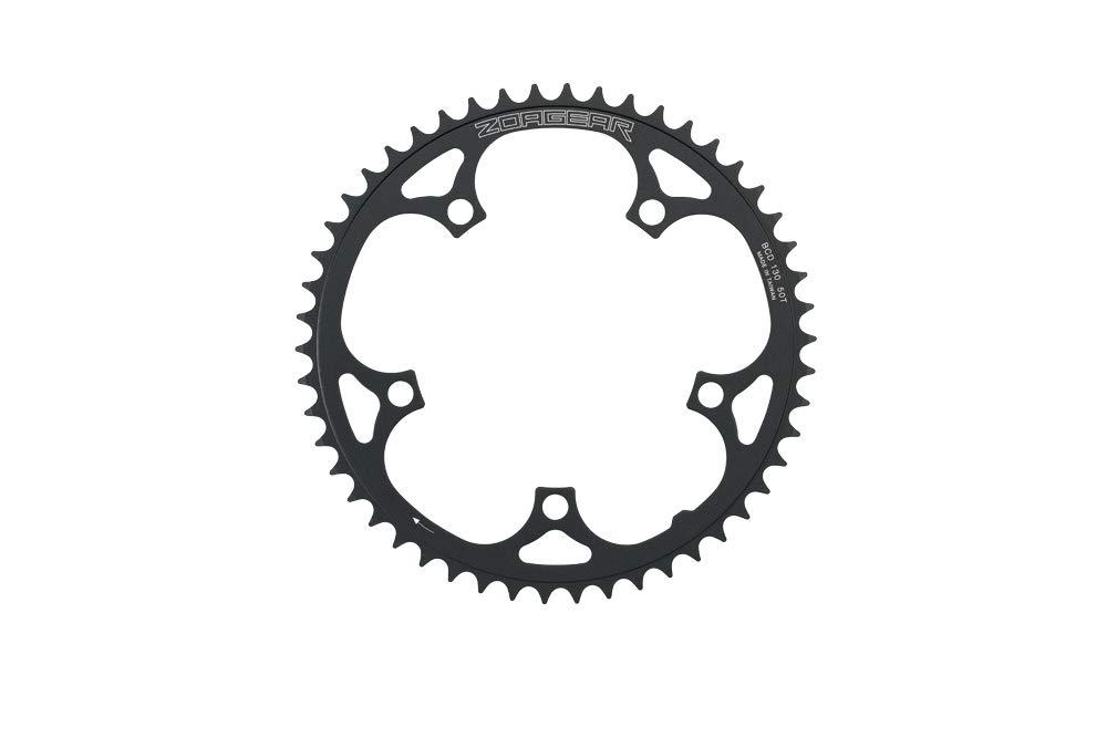 Zoagear Single Speed Chainring 130 BCD 50 Teeth Track Fixed Gear Bike Black