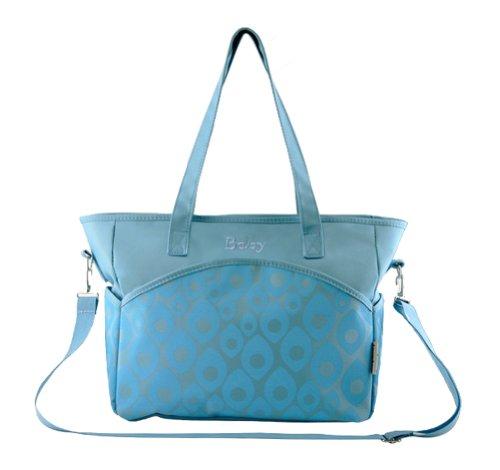 Tonwhar multifuncional gran capacidad bandolera bolsa de pañales - azul