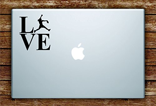 Love Softball Player Silhouette Laptop Apple Macbook Car Quote Wall Decal Sticker Art Vinyl Inspirational Girls Sports Baseball Teen Batter Pitcher Homerun