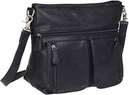(Allison Camera Bag with Dual Front Pouches (Black))