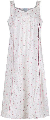 The 1 for U Nancy 100% Cotton Victorian Sleeveless Nightgown 7 Sizes (XL, Vintage -