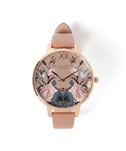 Olivia Burton Reloj Analógico para Mujer de Cuarzo con Correa en Cuero OB16EG74: Amazon.es: Relojes