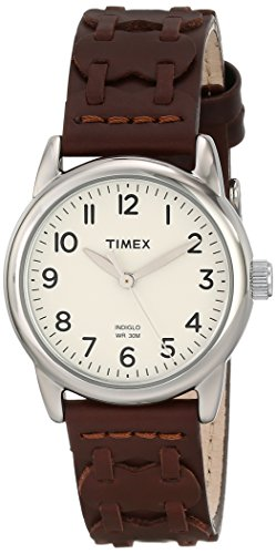 Timex Women's T2N902 Weekender Watch with Brown Leather Strap