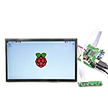GeeekPi 10.1 inch 1366x768 LCD Display Driver Board HDMI+VGA+2AV for Raspberry Pi 3/2