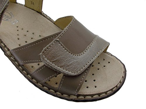 Loren M2524 Shoe Extra Large Adjustable Orthopedic Taupe Sandal 38 xm9TzU