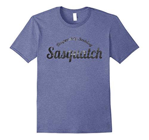Mens  Desperately Seeking Sasquatch T Shirt  XL Heather Blue (Seeking Men)