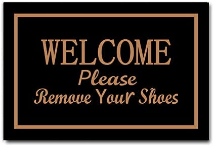 DayliPillow Welcome Doormats Please Remove Your Shoes Entrance Front Door Rug Funny Outdoors Indoor Bathroom Kitchen Bedroom Entryway Floor Mats