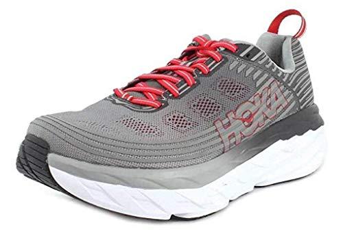 HOKA ONE ONE Men's Bondi 6 Running Shoe Alloy/Steel Grey Size 11 M US
