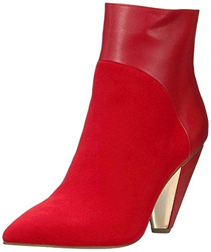 BCBG Generation Women's Lara DRM Micrsde/Smth Nap Fashion Boot, Scarlet/Scarlet, 8.5 M US (Platforms Bcbg)