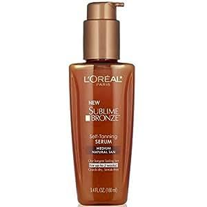 L'Oreal Paris Sublime Bronze Self-Tanning Serum, Medium Natural Tan, 3.4 fl. oz.