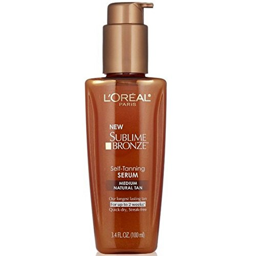 Loreal Tanning - L'Oreal Paris Sublime Bronze Self-Tanning Serum, Medium Natural Tan, 3.4 fl. oz.