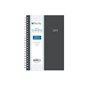 Blue Sky 2019 Weekly & Monthly Planner, Flexible Cover, Twin-Wire Binding, 5″ x 8″, Enterprise