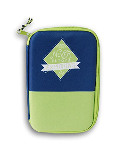 Zip-Close Never Stop Exploring First Aid Kit Case with Mesh Pockets and Elastic Storage