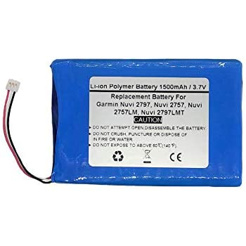 3.7V//1500mAh Replace GPS Navigator Battery for Garmin Nuvi 2797 Nuvi 2797LMT,361-00066-00 Nuvi 2757LM Nuvi 2757