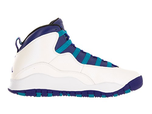 low priced cbcf6 51e82 ... promo code for amazon jordan big kids air retro 10 white concord blue  lagoon black shoes