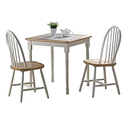 Boraam Farmhouse Tile Top Square 3 Piece Small Dinette Set -  - kitchen-dining-room-furniture, kitchen-dining-room, dining-sets - 41iT 0dunjL. SS400  -