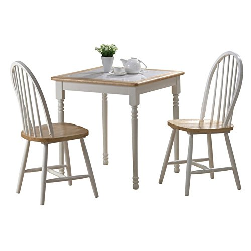Tile Top Dinette (Boraam Farmhouse Tile Top Square 3 Piece Small Dinette Set)