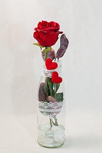 Romantische Rote Rose Mit Herzen Tischgesteck Tischdeko Mit
