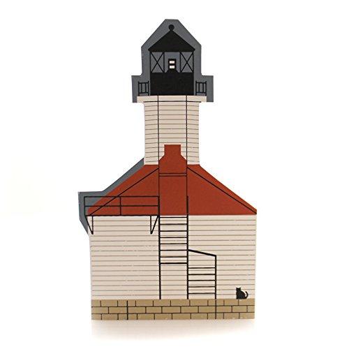 CATS MEOW VILLAGE ST. Joseph Lighthouse Wood Lake Michigan Sj1996