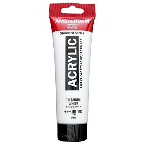 Royal Talens Amsterdam Standard Series Acrylic Color, 120ml Tube, Titanium White (17091052)