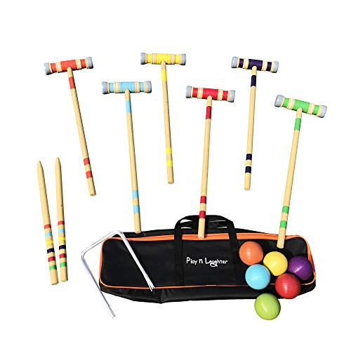 Play N Laughter 6 Player Croquet Set