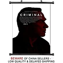 Criminal 2016 Kevin Costner Movie Fabric Wall Scroll Poster (32x49) Inches