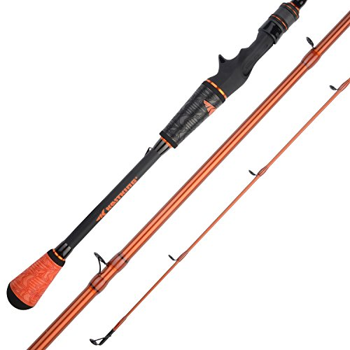 KastKing Speed Demon Pro Bass Fishing Rods, Cast-Sq Bill Crankinft -6ft 8in M Power-Moderate