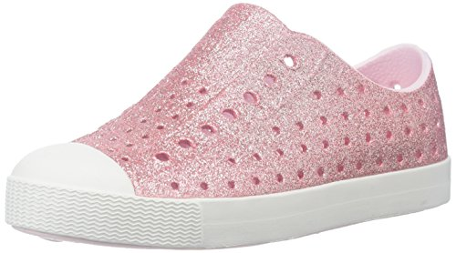 Native Shoes Girls' Jefferson Bling Flat, Milk Pink/Shell White, 10 M US Toddler ()