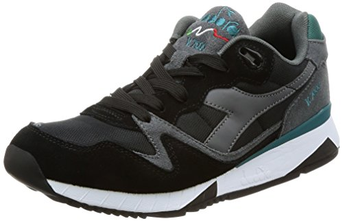 Diadora Uomo, V7000 Nyl II Steel Gray Black Shaded Spruce, Suede/Mesh, Sneakers, Nero