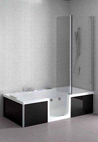 grandform bañera con puerta combinada Double con hidromasaje 180 x 80 x altura 211.6