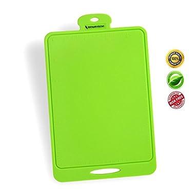 Silicone Cutting Board - Flexible, Durable, Dishwasher Safe, Nonslip for Chopping Mat - Green - SM Health Kitchen