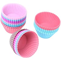 Funnytoday365 Set Of 12 Pieces(1 Dozen) 3Cm Mini Muffin Cup Round Silicone Cake Baking Molds Cupcake Pan