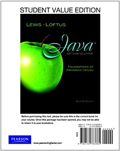 student value edition for java software solutions 7th edition rh amazon com Lewis Lab Northeastern Lewis Labs Nutritional Yeast